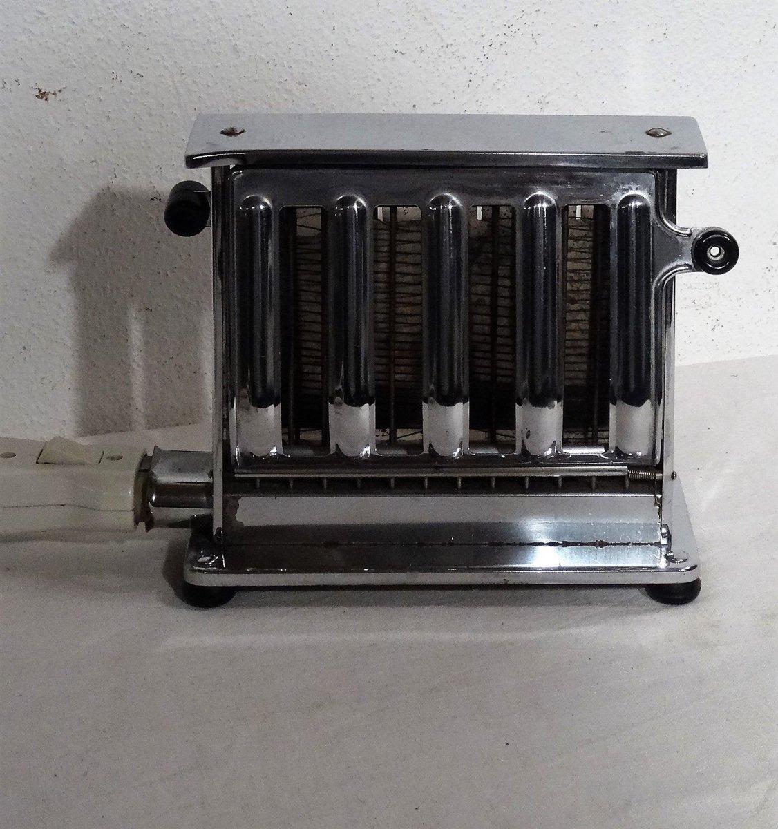 kultiger grossag toaster verchromt schwarze bakelitgriffe made in germany 50er. Black Bedroom Furniture Sets. Home Design Ideas