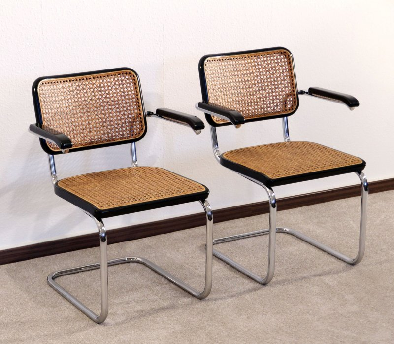 thonet s64 freischwinger bauhaus klassiker st hle schwarz breuer chairs ebay. Black Bedroom Furniture Sets. Home Design Ideas