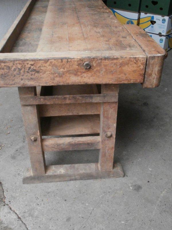 antike alte hobelbank massiv werkbank loft esstisch atelier arbeitstisch tisch. Black Bedroom Furniture Sets. Home Design Ideas