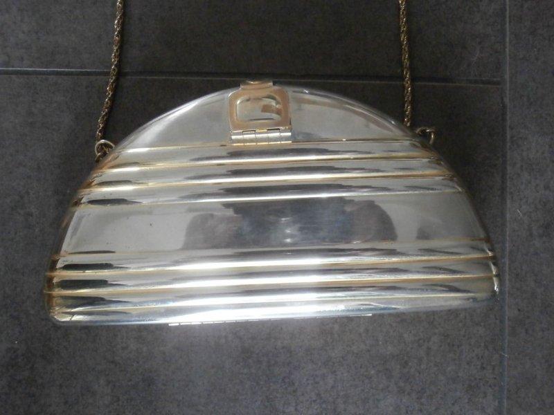 vintage tasche art deco abendtasche metall silber gold rarit t ebay. Black Bedroom Furniture Sets. Home Design Ideas