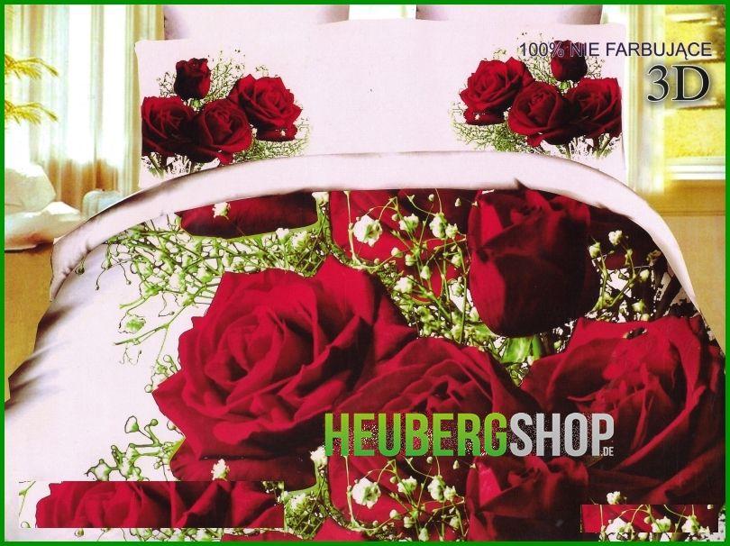 3 tlg 3d effekt bettw sche bettgarnitur 155x200 cm motiv love rosen blume rot ebay. Black Bedroom Furniture Sets. Home Design Ideas