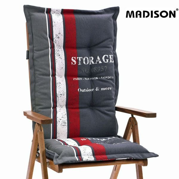 madison auflagen storage red fuer hochlehner sessel sitzkissen kissen polster ebay. Black Bedroom Furniture Sets. Home Design Ideas