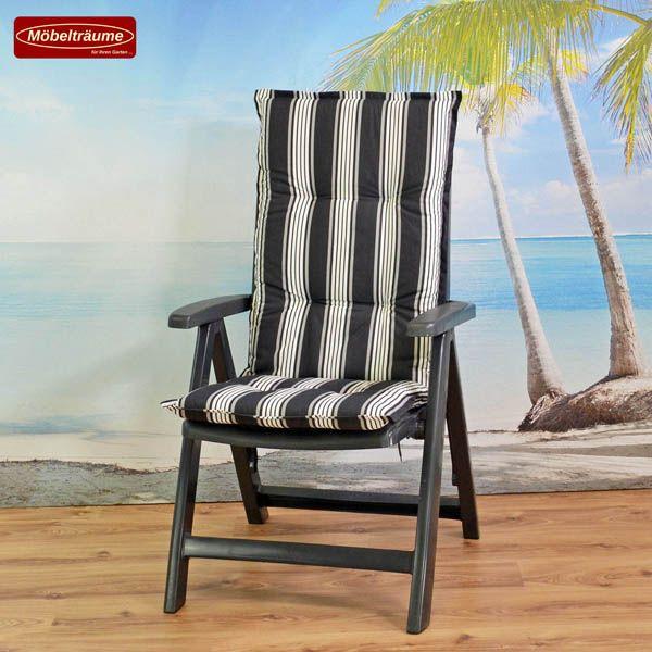 neu kettler gartenstuhl in anthrazit mit auflagen nizza gartenm bel klappsessel. Black Bedroom Furniture Sets. Home Design Ideas