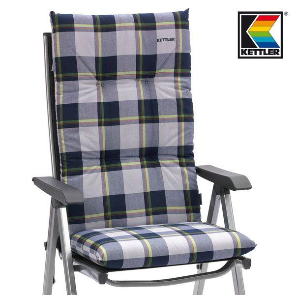 neu kettler auflagen f r hochlehner sessel 8 cm dick in blau gartenm bel kissen. Black Bedroom Furniture Sets. Home Design Ideas