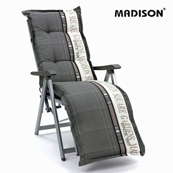 auflagen fuer hochlehner sessel stuhl sitzkissen kissen polster madison in grau ebay. Black Bedroom Furniture Sets. Home Design Ideas