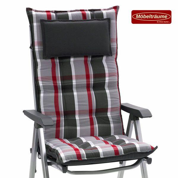 Hochlehner Sessel Auflagen 9 cm dick mit Kopfkissen