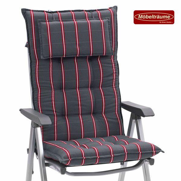 luxus auflagen f r hochlehner niederlehner relaxliegen und liegen in grau rot ebay. Black Bedroom Furniture Sets. Home Design Ideas
