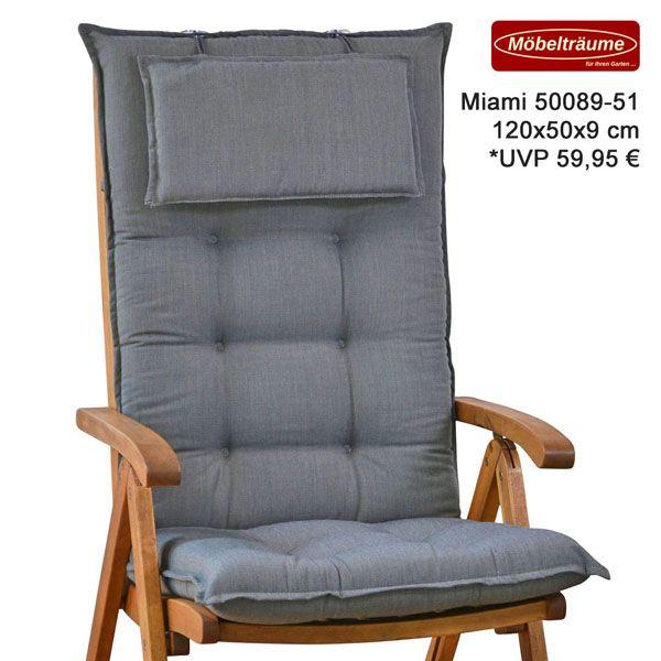 neu luxus auflagen f r hochlehner niederlehner relaxliegen und liegen in grau ebay. Black Bedroom Furniture Sets. Home Design Ideas