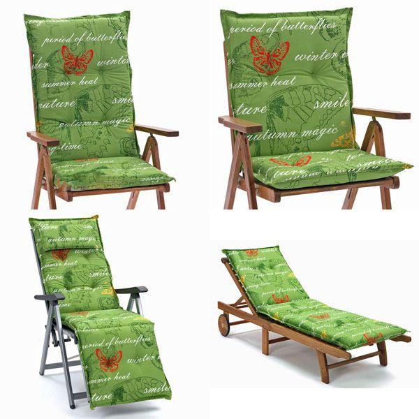 6 x gartenpolster auflagen polster kissen stuhlkissen f r hochlehner gartenstuhl ebay. Black Bedroom Furniture Sets. Home Design Ideas