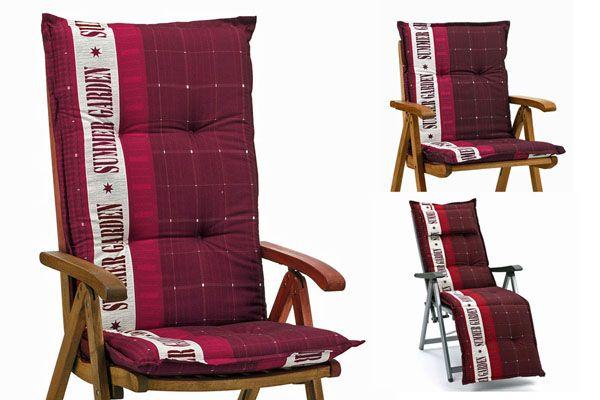 auflagen f r niederlehner hochlehner relaxsessel sessel relaxliege relax in rot ebay. Black Bedroom Furniture Sets. Home Design Ideas