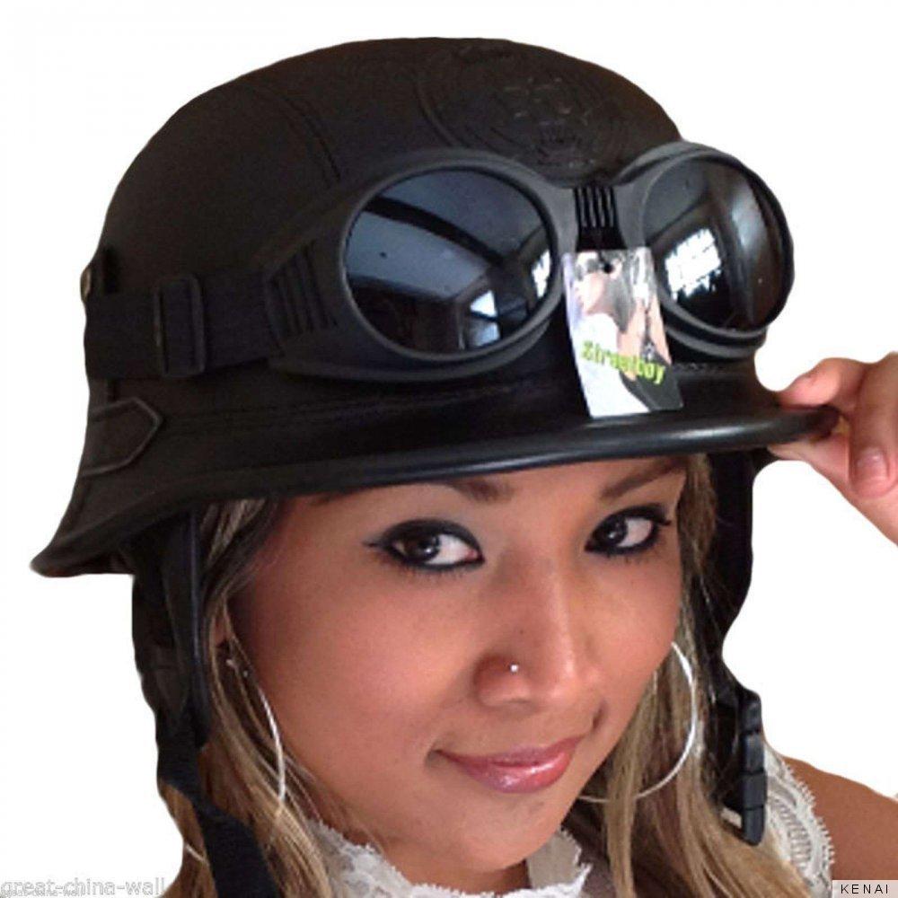 chopper helm incl brille helm incl brille biker helm. Black Bedroom Furniture Sets. Home Design Ideas