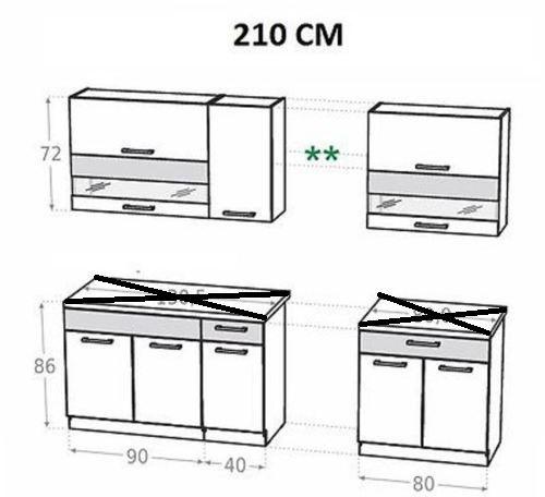 k che kam 210 260 270 320 schr nke zebrano birne verschiedene kombinationen ebay. Black Bedroom Furniture Sets. Home Design Ideas