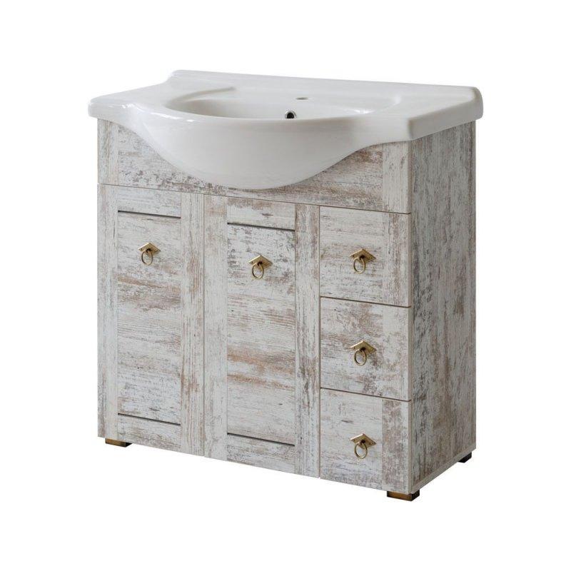 badm bel set provence 85 shabby chic badm bel mit waschbecken badm belset naka24. Black Bedroom Furniture Sets. Home Design Ideas