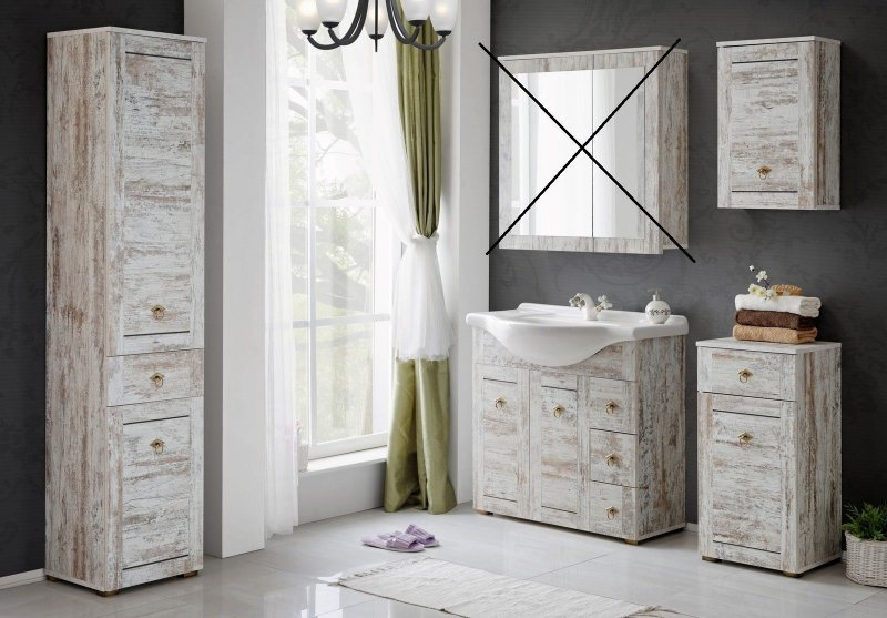 badm bel provence 85 shabby chic badm bel mit. Black Bedroom Furniture Sets. Home Design Ideas