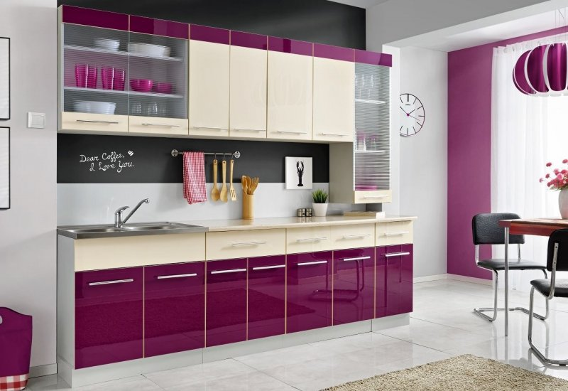 komplette k che magda 260 cm verschiedene farbkombinationen hochglanz neu ebay. Black Bedroom Furniture Sets. Home Design Ideas