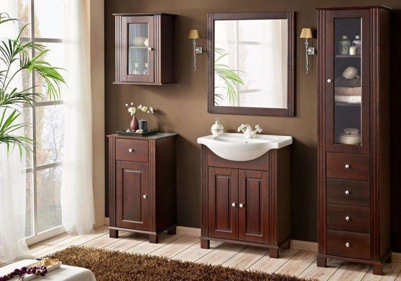 badm bel set retro 65 cm badm bel mit waschbecken. Black Bedroom Furniture Sets. Home Design Ideas