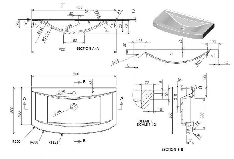 badm bel set dynamic plus 90 cm led badezimmer m bel badset mit waschbecken naka24. Black Bedroom Furniture Sets. Home Design Ideas