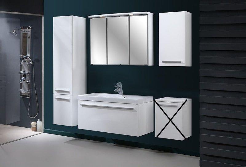 badm bel set atos wei 80 hochglanz mit waschbecken 80cm ohne unterschrank ebay. Black Bedroom Furniture Sets. Home Design Ideas