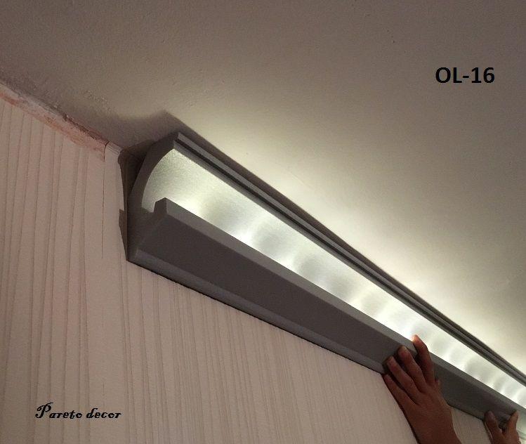 20 4 meter led zierleiste dekor stuckleiste f r indirekte beleuchtung xps ol 16 ebay. Black Bedroom Furniture Sets. Home Design Ideas