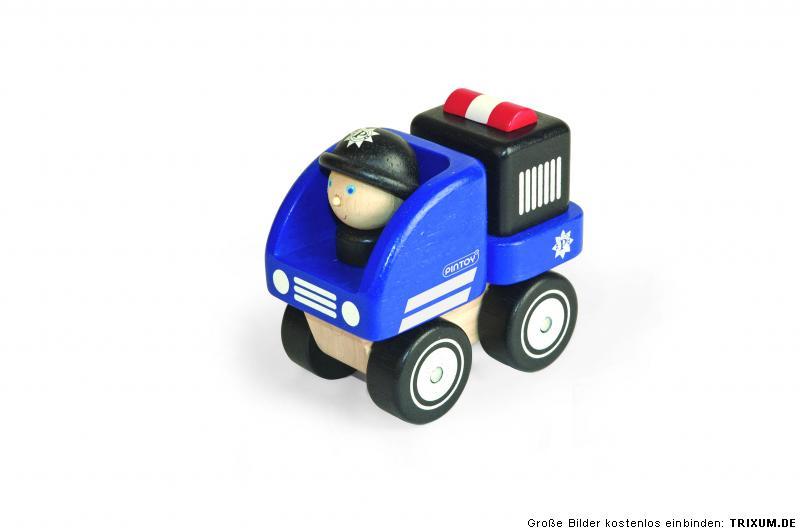 pintoy kleines polizeiauto holz auto fahrer polizist m nnchen fahrzeug polizei kaufen bei. Black Bedroom Furniture Sets. Home Design Ideas