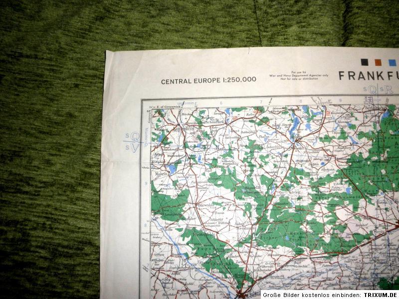 us army original landkarte 2 weltkrieg wehrmacht. Black Bedroom Furniture Sets. Home Design Ideas