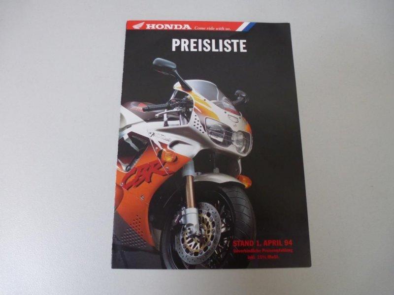 riginal Honda Preisliste A