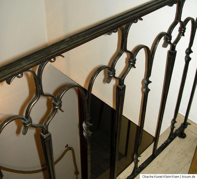 treppengel nder 60er schmiedeeisen handgeschmiedet handlauf treppenlauf kult ebay. Black Bedroom Furniture Sets. Home Design Ideas