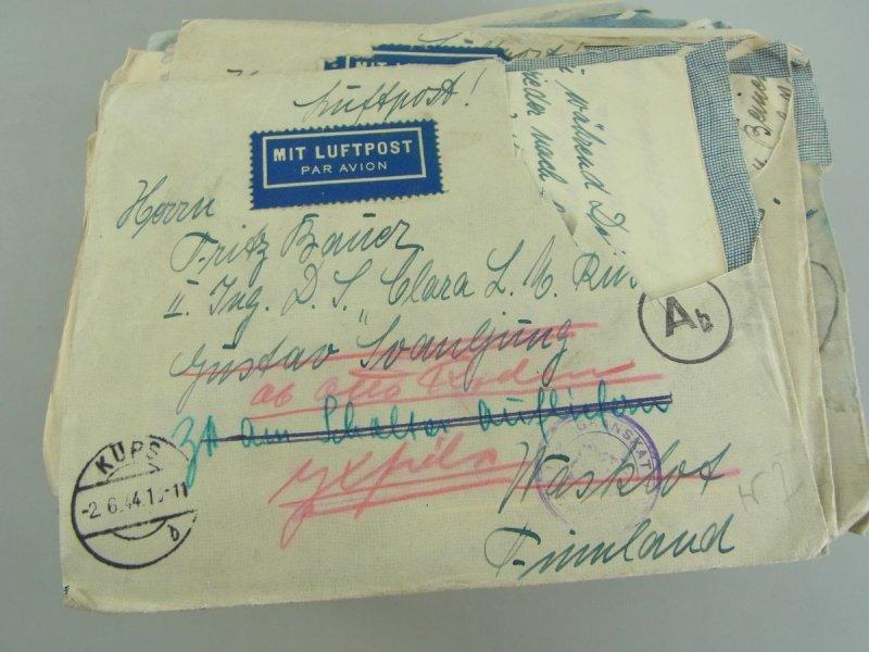 Briefe Mit Luftpost : Nachlaß briefe luftpost feldpost schiff quot d s clara l m