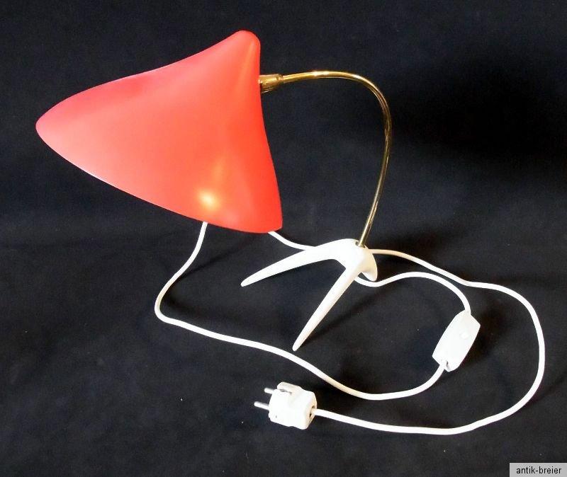 selten erwi designer lampe schreibtischlampe skulpturale leuchte von louis kalff ebay. Black Bedroom Furniture Sets. Home Design Ideas