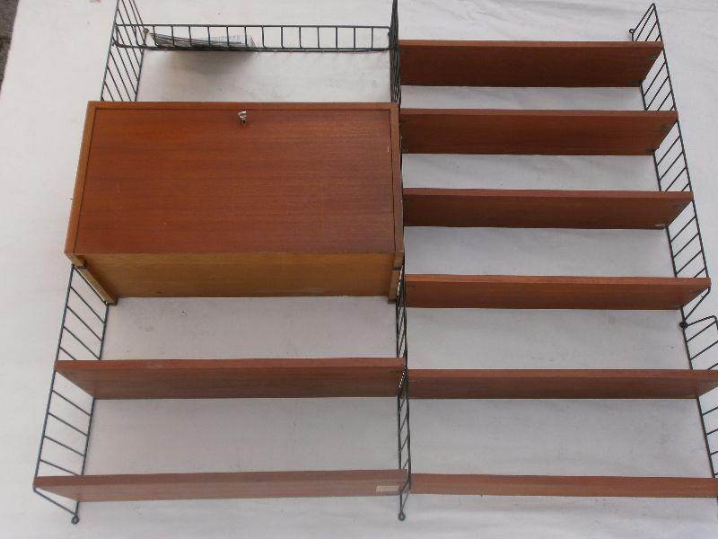 original string regal teak intraform 22 teilig shelve system ebay. Black Bedroom Furniture Sets. Home Design Ideas