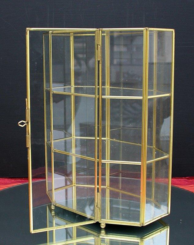 glas setzkasten messing glas vitrine f r miniaturen u swarovski ebay. Black Bedroom Furniture Sets. Home Design Ideas