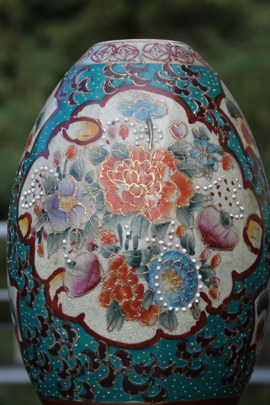 ltere grosse chinesische porzellan vase wohl um 1900. Black Bedroom Furniture Sets. Home Design Ideas