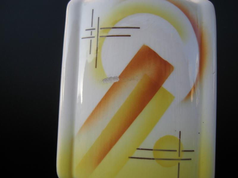 Art Deco Bauhaus Spritzdekor Kaffeem Hle Ceramic Weimarer