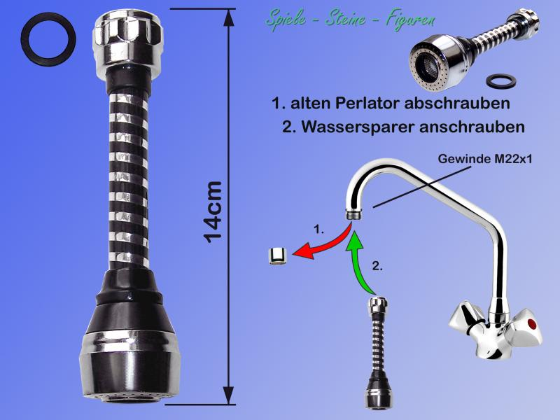 Save Water Nozzle Water Tap 14cm Swivel Attachment Water