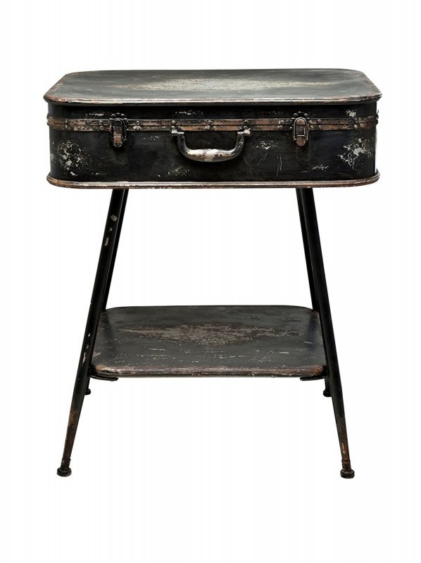 kare design konsole beistelltisch suitcase iron koffer optik tisch 77131 i s27 ebay. Black Bedroom Furniture Sets. Home Design Ideas