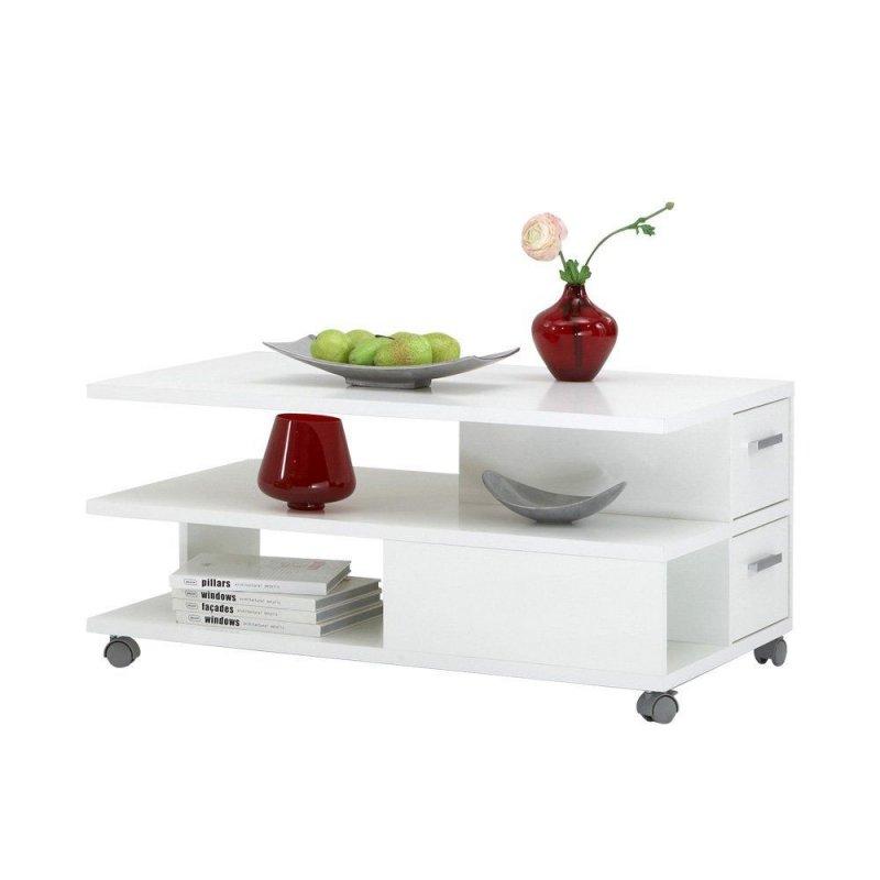 FMD Möbel 646001 Couchtisch Pia 92 x 44,5 x 60 cm, weiß