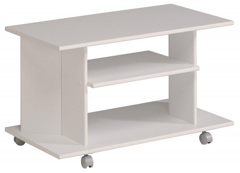 parisot 9501tvhf eno fernsehtisch hifi tv tisch wei rollen tv m bel 75x39cm d34 ebay. Black Bedroom Furniture Sets. Home Design Ideas