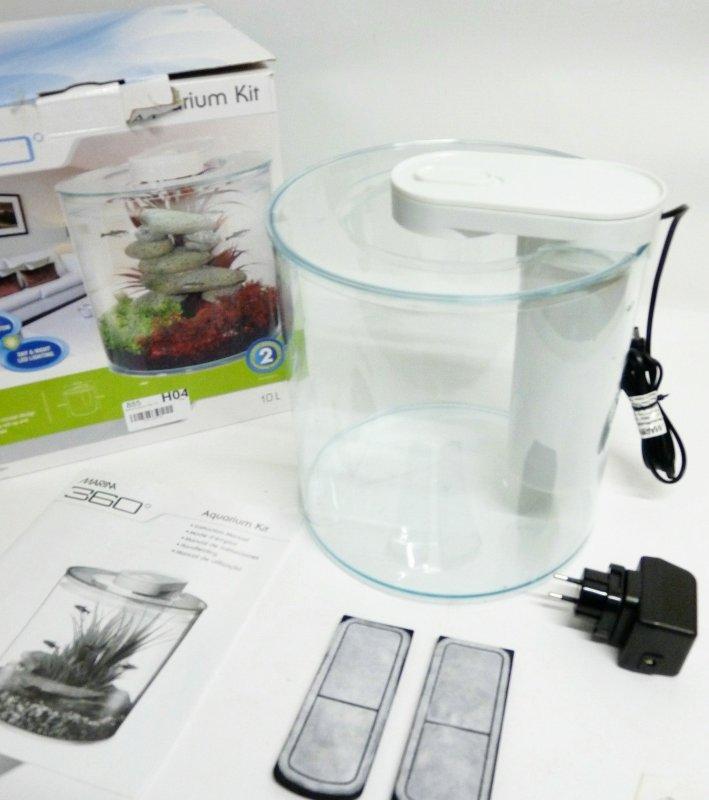 marina aquarium 360 10 l fische becken starter kit aquaristik rund. Black Bedroom Furniture Sets. Home Design Ideas