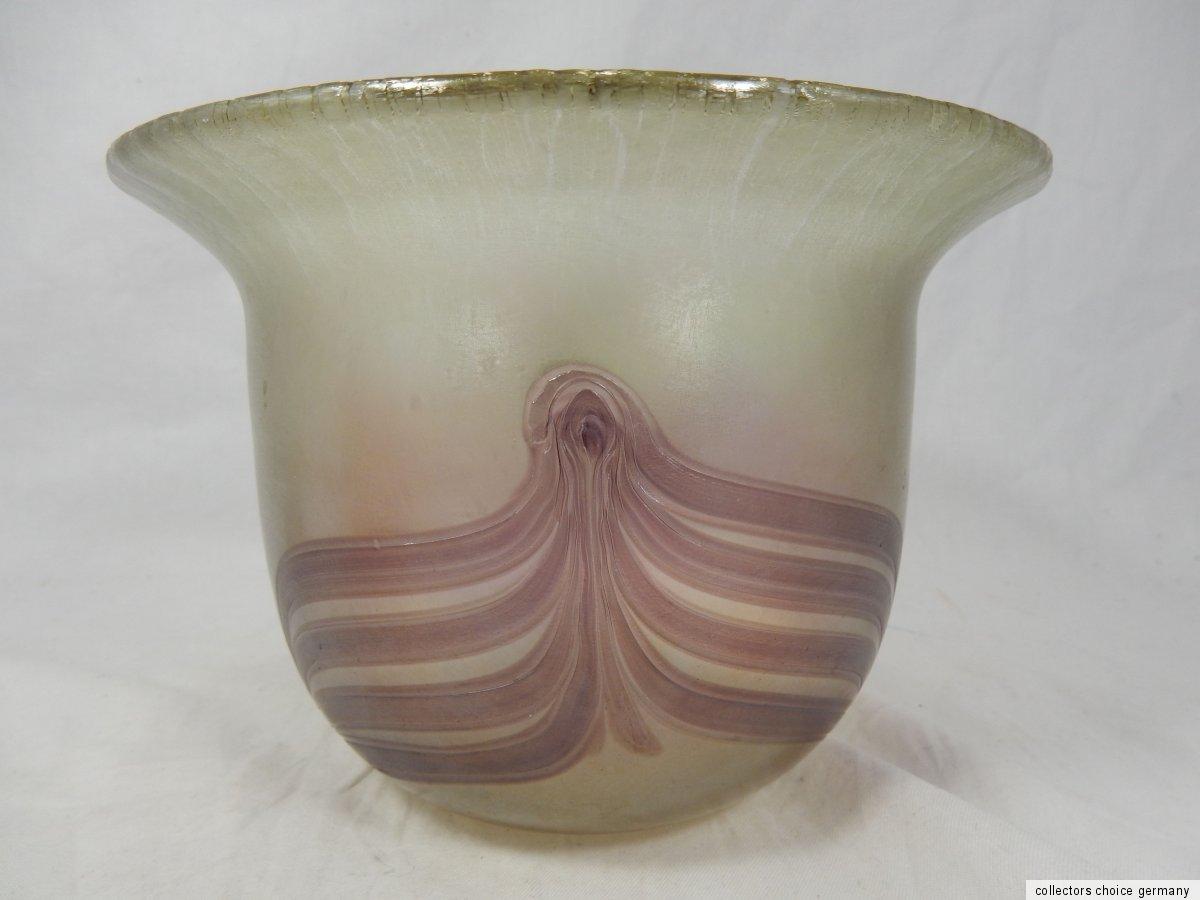 sch ner irisierender joska studio glas blumen vase. Black Bedroom Furniture Sets. Home Design Ideas
