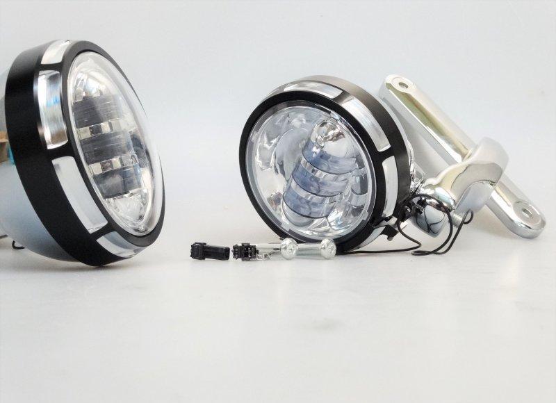 harley road king electra glide led zusatzscheinwerfer. Black Bedroom Furniture Sets. Home Design Ideas