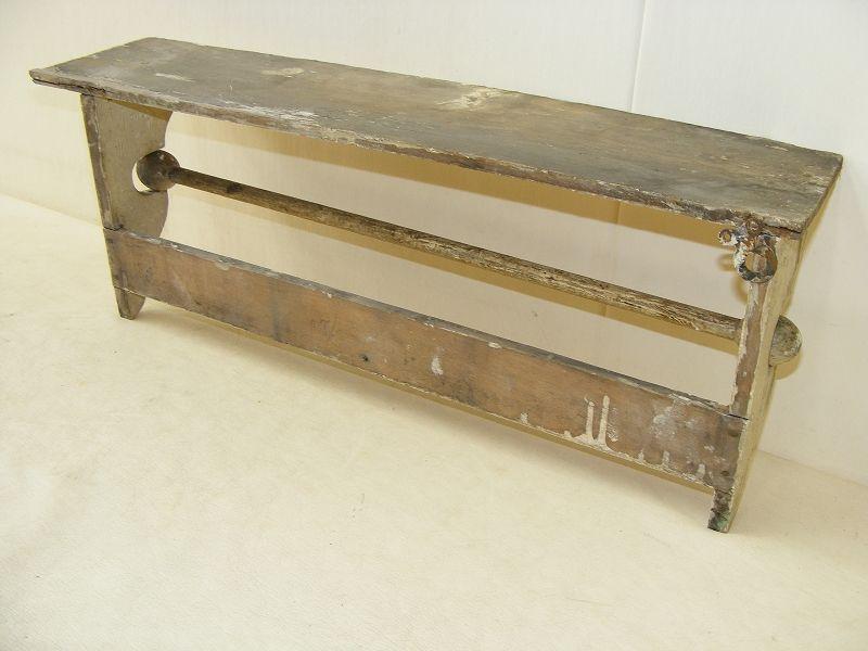 sch nes altes k chenregal regal k che antik holz handtuchhalter hakenleiste ebay. Black Bedroom Furniture Sets. Home Design Ideas