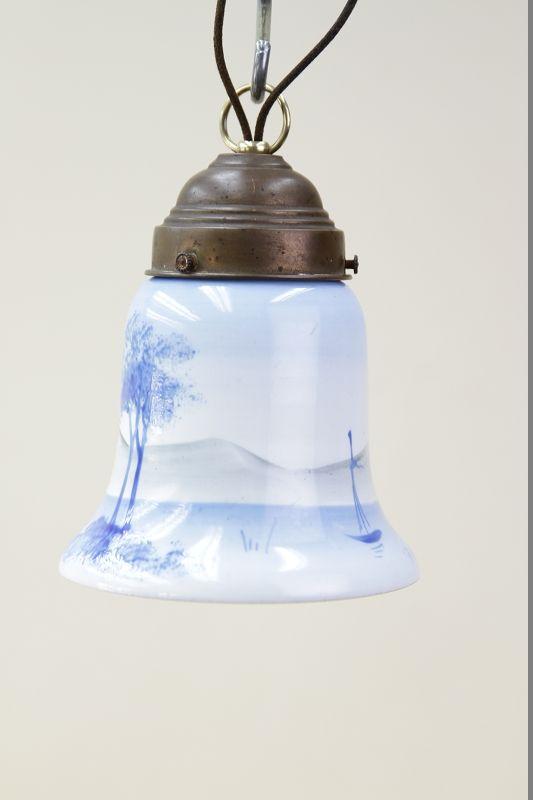 belle antique lampe de cuisine lampe suspension de 30 ann es 1940 ann es lampe ebay. Black Bedroom Furniture Sets. Home Design Ideas