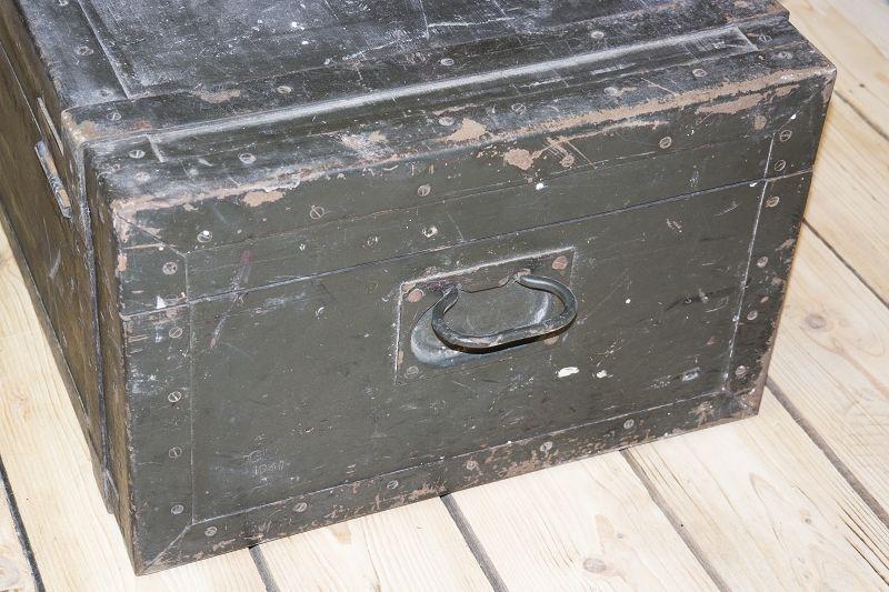 beau ancienne caisse en bois raccord fer bo te de l 39 agent wk2 wehrmacht. Black Bedroom Furniture Sets. Home Design Ideas