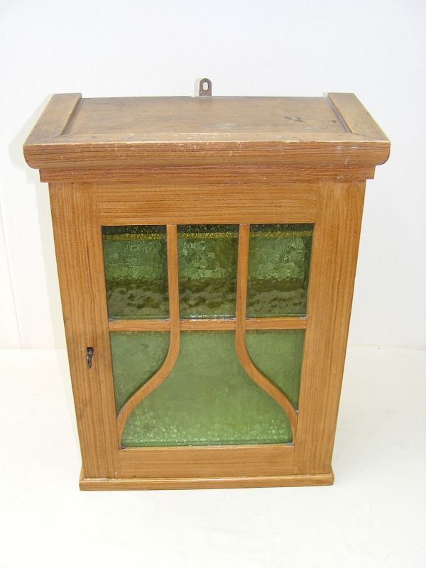 petit vieux armoire murale armoire pharmacie vintage bois vitrine ebay. Black Bedroom Furniture Sets. Home Design Ideas