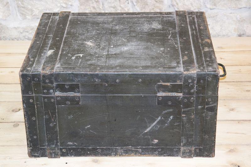 beau ancienne caisse en bois raccord fer bo te de l 39 agent wk2 wehrmacht ebay. Black Bedroom Furniture Sets. Home Design Ideas
