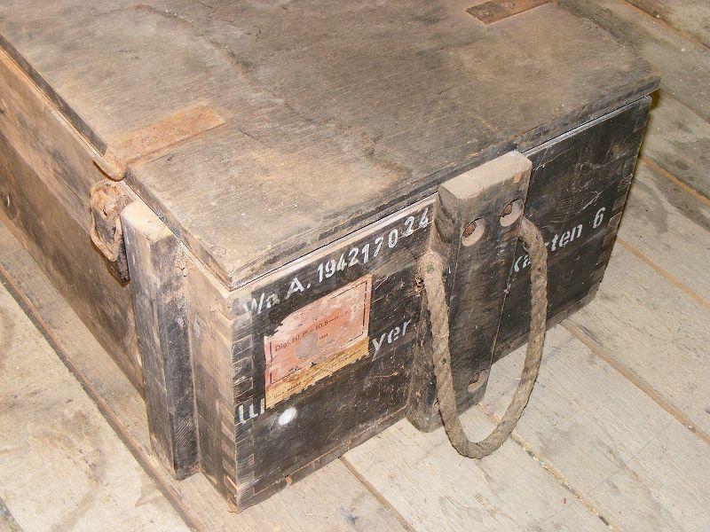 ancienne bo te de munitions caisse en bois bo te de mat riel bo te 6 ebay. Black Bedroom Furniture Sets. Home Design Ideas