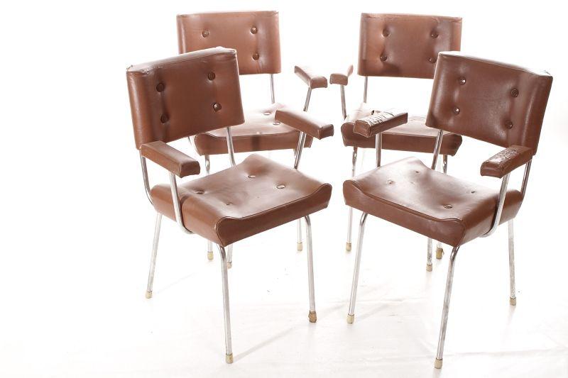 ddr sitzgruppe 4 st hle vintage retro chair 60er 70er jahre stuhl ebay. Black Bedroom Furniture Sets. Home Design Ideas