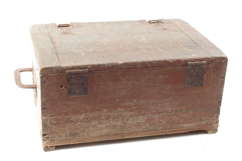 ancienne bo te de munitions caisse en bois bo te de mat riel wk ii wehrmacht ebay. Black Bedroom Furniture Sets. Home Design Ideas