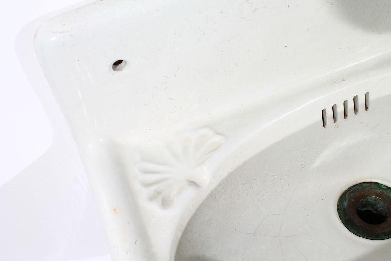tr s ancien c ramique lavabo bac vier bassin vier wc blanc ebay. Black Bedroom Furniture Sets. Home Design Ideas