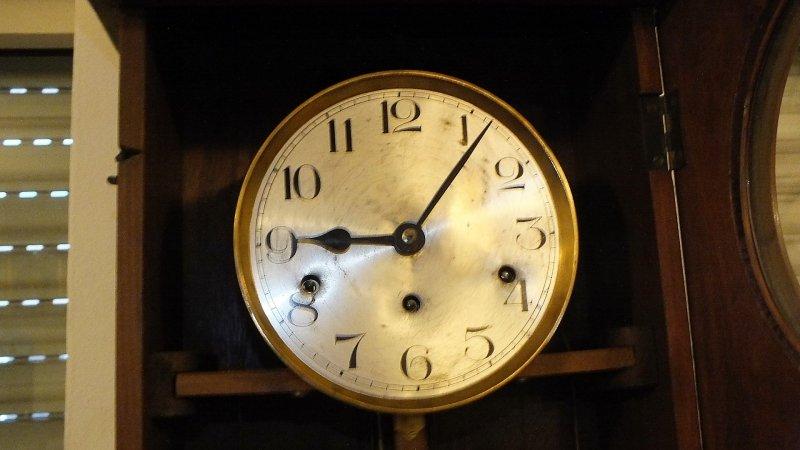 115cm h kienzle wanduhr regulator westminster nu baum henri ii design 1900 ebay. Black Bedroom Furniture Sets. Home Design Ideas